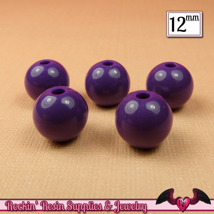Mauve Rhinestone 20mm Chunky Beads 10 ct for Bubblegum Gum Ball Necklace