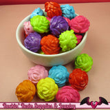 24mm ROSE Gumball Beads 8 pcs Bright Colorful MIX Acrylic Beads - Rockin Resin  - 2