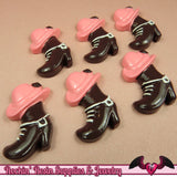 COWGIRL BOOTS / HAT Kawaii Cabochons / Flatback Decoden Resin Cabochon (5 pieces) - Rockin Resin  - 2
