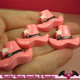 PINK COWGIRL HAT Kawaii Cabochons / Flatback Decoden Resin Cabochon (5 pieces) - Rockin Resin  - 2
