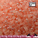 200 pc 6mm Flamingo PINK HaLF PEARLS    Decoden Flatback Cabochons - Rockin Resin  - 1