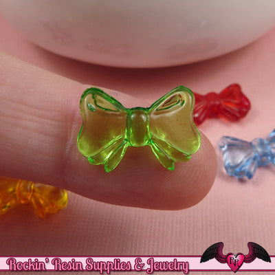 BOW BEADS Colorful Transparent Acrylic Bead Mix 10x15mm (50 pieces) - Rockin Resin  - 1