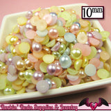 10mm 50pc Light PASTEL Mix HaLF PEARLS - Rockin Resin  - 2