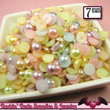 100 pc 7 mm Light Pastel Mix HALF PEARLS - Rockin Resin  - 1