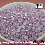 200pc 4mm LAVENDER Half Pearls   Flatback Decoden Cabochons - Rockin Resin  - 2