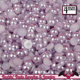 200pc 4mm LAVENDER Half Pearls   Flatback Decoden Cabochons - Rockin Resin  - 1