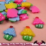 5 pc CUP CAKES Sweets  Decoden Kawaii Flatback Resin Cabochons 19x17mm - Rockin Resin  - 2