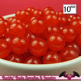 10mm RED JELLY GUMBALL Beads (50 pieces) - Rockin Resin  - 2