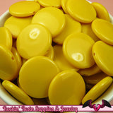 40 pc Yellow Flat Spree Style Round ACRYLIC BEADS, Coin Beads, Flat Round Beads 21mm - Rockin Resin  - 2