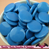 40 pc Blue Flat Spree Style Round ACRYLIC BEADS, Coin Beads, Flat Round Beads 21mm - Rockin Resin  - 2