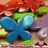 Seconds Beads - Acrylic AB Large Butterfly Beads 46 x 35mm (6 pieces) - Rockin Resin  - 3
