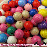 10mm Faceted Round Disco ball Style Acrylic Beads (50 pieces) - Rockin Resin  - 2
