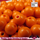 16mm ORANGE GUMBALL Beads (20 pieces) Round Acrylic Beads - Rockin Resin  - 2