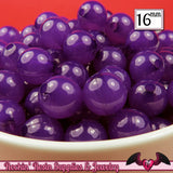 16mm Jelly PURPLE GUMBALL Beads (20 pieces) Round Acrylic Beads - Rockin Resin
