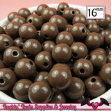 16mm BROWN GUMBALL Beads (20 pieces) Round Acrylic Beads - Rockin Resin  - 2