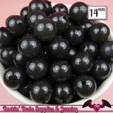 14mm 25 pc BLACK JELLY Gumball Beads  Round Acrylic Beads - Rockin Resin  - 1