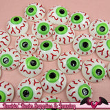 5 pc EYE BALL Creepy Halloween Decoden Flatback Kawaii Cabochons 16mm - Rockin Resin  - 2