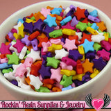 10mm STAR BEADS Bright Colorful Mix (100 pieces) Tiny Acrylic Beads - Rockin Resin  - 3