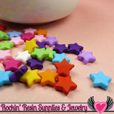 10mm STAR BEADS Bright Colorful Mix (100 pieces) Tiny Acrylic Beads - Rockin Resin  - 4