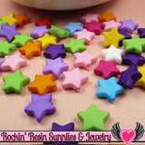 10mm STAR BEADS Bright Colorful Mix (100 pieces) Tiny Acrylic Beads - Rockin Resin  - 2