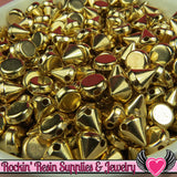 50 pc Metallic Gold SPIKE CONE BEADS 8mm - Rockin Resin  - 2