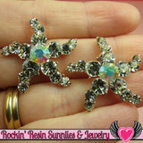 2pc STARFISH Nautical Rhinestone Gold Alloy DIY Cabochon Cellphone Decoration - Rockin Resin  - 1