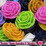 Grade B Seconds 4 JUMBO ROSE Beads 45 to 48mm - Rockin Resin  - 2