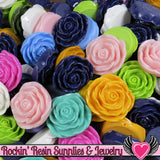 Grade B Seconds 4 JUMBO ROSE Beads 45 to 48mm - Rockin Resin  - 4