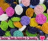 Grade B Seconds 4 JUMBO ROSE Beads 45 to 48mm - Rockin Resin  - 3