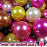 Grade B 10 HUGE PEARL Beads 30mm Imitation Pearls - Rockin Resin  - 5