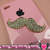 Crystal covered MUSTACHE Flatback Cellphone Decoration 57mm - Rockin Resin  - 3