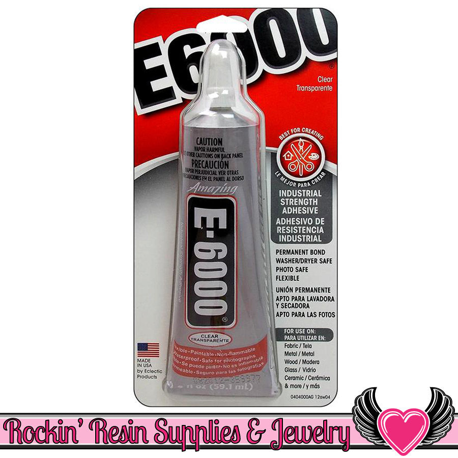 E-6000 Jewelry and Craft Adhesive 2oz Large Tube E6000 Professional Craft Glue - Rockin Resin  - 1
