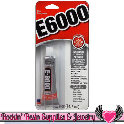 E-6000 Jewelry and Craft Adhesive 0.5oz Tube Professional Craft Glue - Rockin Resin  - 1