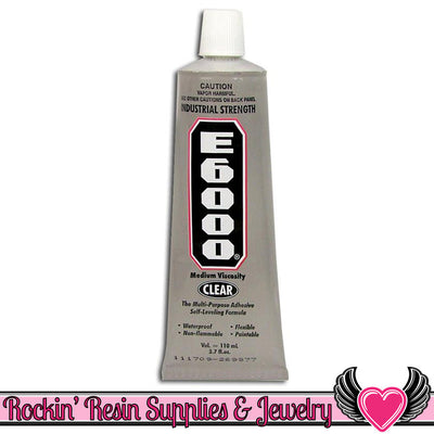 E-6000 Jewelry and Craft Adhesive 3.7 oz Large Tube E6000 Professional Craft Glue - Rockin Resin  - 1