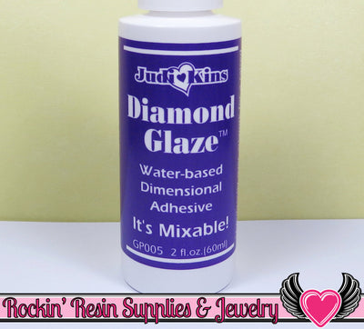 DIAMOND GLAZE 2 oz Water Based Dimensional Adhesive - Rockin Resin  - 1