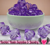 10 Purple Bling Diamond Pendant Drop Beads 22 x 20mm - Rockin Resin  - 2