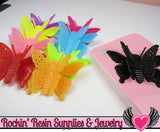 3D style BUTTERFLY Cabochons with flexible wings Flatback Decoden Cabochons Large 50x36mm - Rockin Resin  - 3