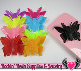 3D style BUTTERFLY Cabochons with flexible wings Flatback Decoden Cabochons Large 50x36mm - Rockin Resin  - 2
