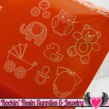 Mod Podge Mod Melts BABY Child SILICONE MOLD - Rockin Resin  - 2