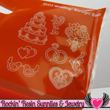 Mod Podge Mod Melts WEDDING SILICONE MOLD - Rockin Resin  - 2