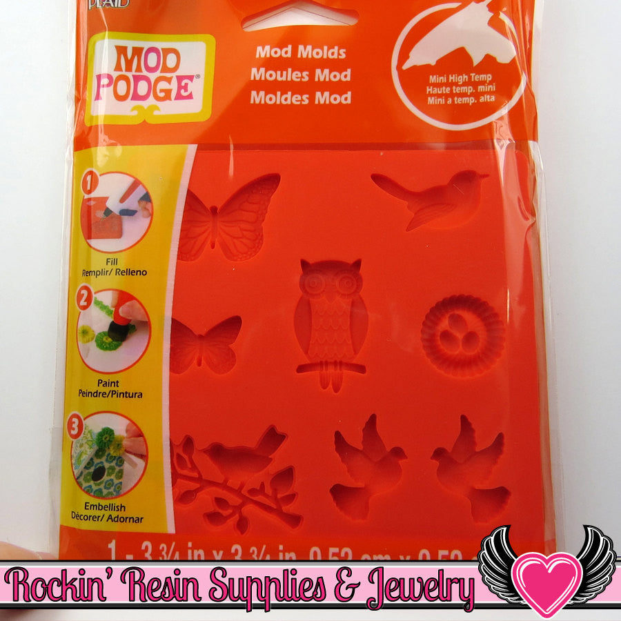 Mod Podge Mod Melts  NATURE SILICONE MOLD - Rockin Resin  - 1