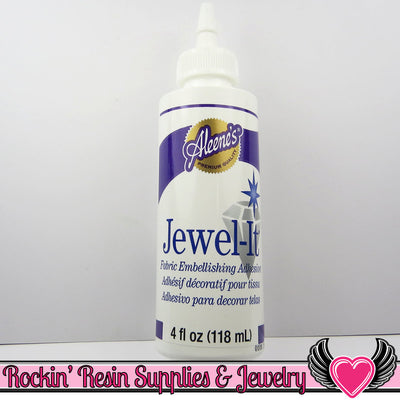 FABRIC JEWEL ADHESIVE Glue Aleene's Jewel It for embellishing - Rockin Resin