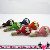 Jesse James Buttons 6pc RAINBOW POPS Lollipops / Turn them Into Flatback Cabochons - Rockin Resin  - 2