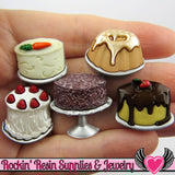 Jesse James Buttons 5pc Let Them Eat CAKE / Turn them Into Decoden Cabochons - Rockin Resin  - 1