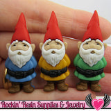 Jesse James Buttons 3pc GARDEN GNOMES / Turn them Into Decoden Cabochons - Rockin Resin  - 1