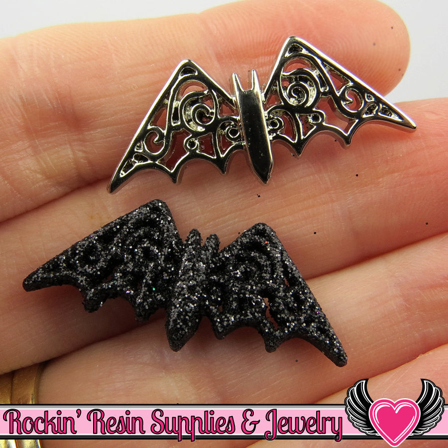 Jesse James Buttons 7 pc BEWITCHING BATS OR Turn them Into Decoden Cabochons - Rockin Resin  - 1
