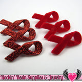 Jesse James Buttons 6 pc Red Ribbons OR Turn them Into Flatback Cabochons - Rockin Resin  - 2