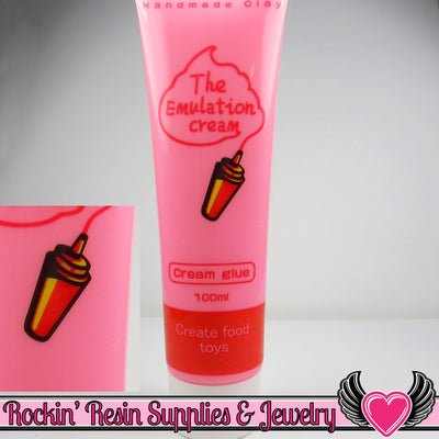 BRIGHT PINK Fake Whipped Cream 100g with Piping Tips - Rockin Resin  - 1
