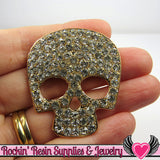 Crystal Covered SKULL HEAD FACE Alloy Decoden Cabochon Cell phone Decoration - Rockin Resin  - 2