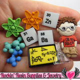 Jesse James Buttons 10 pc LITTLE GENIUS Science Buttons OR Turn them Into Flatback Decoden Cabochons - Rockin Resin  - 1